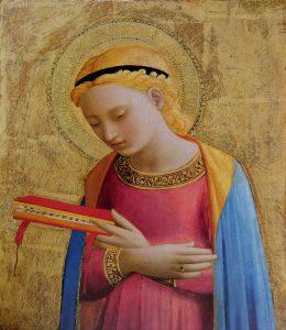 La Vierge Marie reçoit l'annonce de l'archange Gabriel